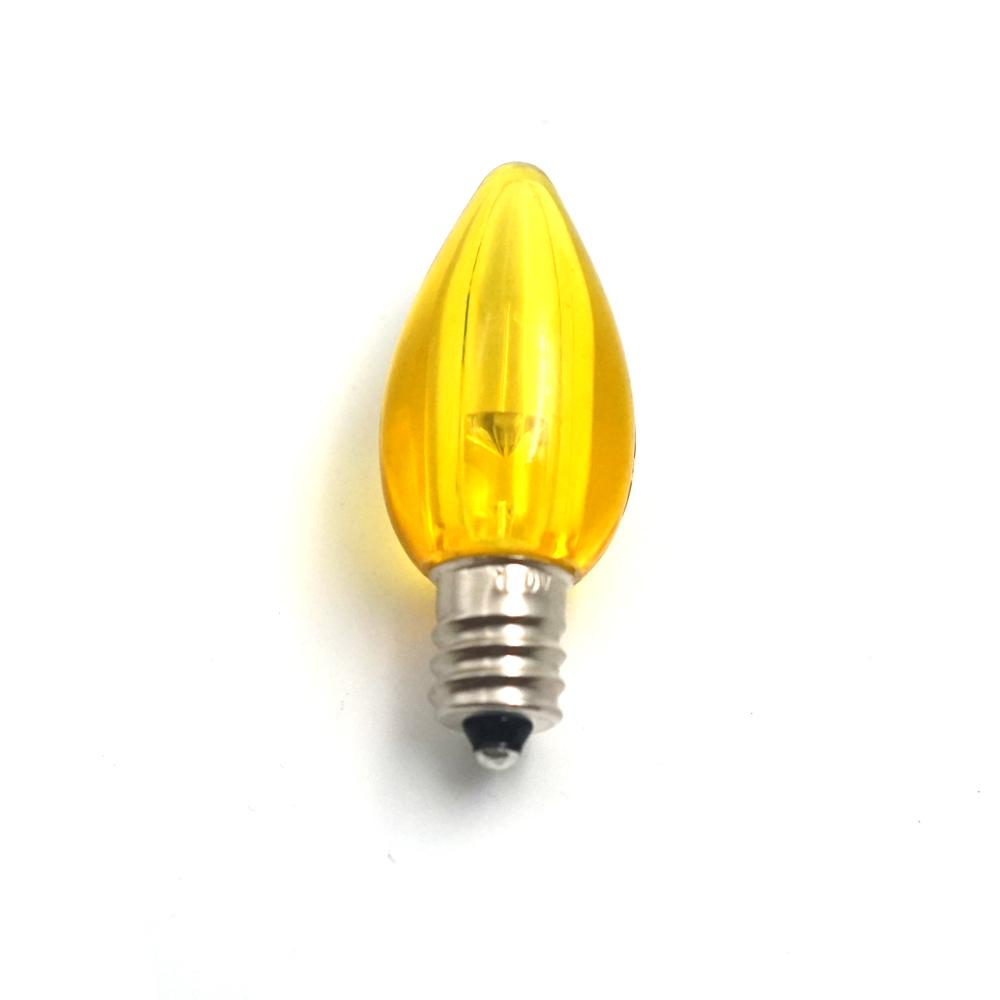 C7 E12 LED light bulbs Smooth lens