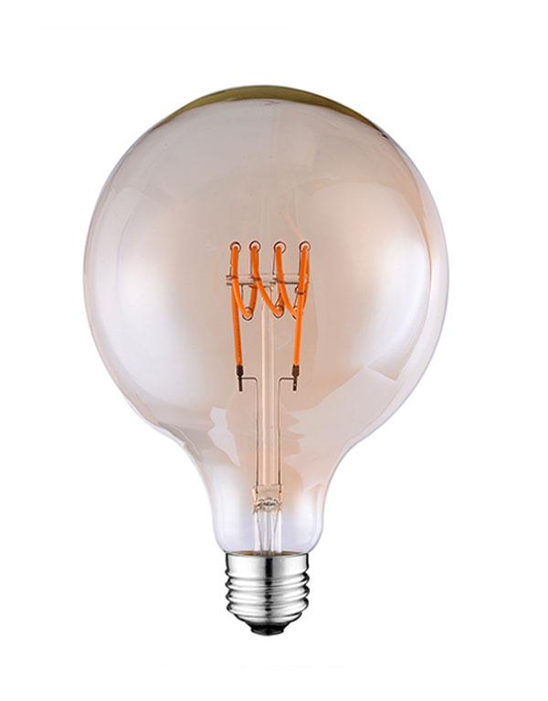 G125 LED Flexible filament globe light bulbs