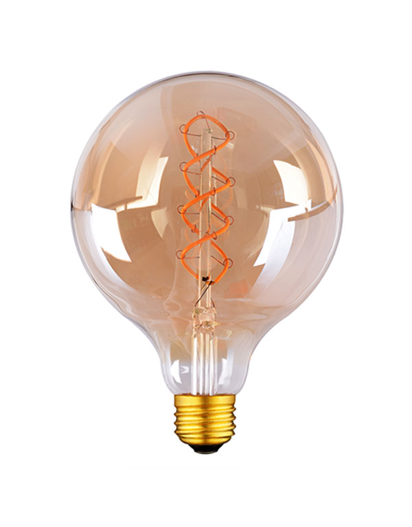 G125 LED Flexible filament globe light bulbs