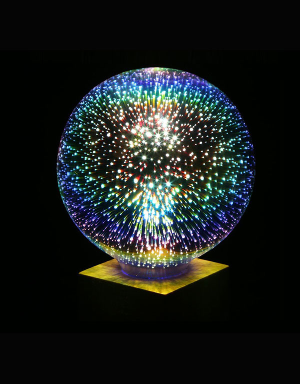 G125 colorful 3D LED Fireworks ball light bulb