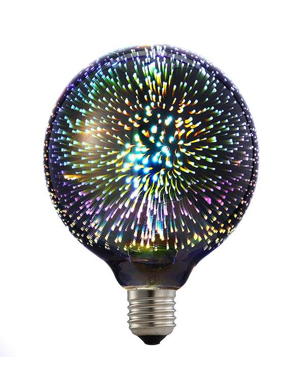 G125 colorful 3D LED Fireworks ball light bulb