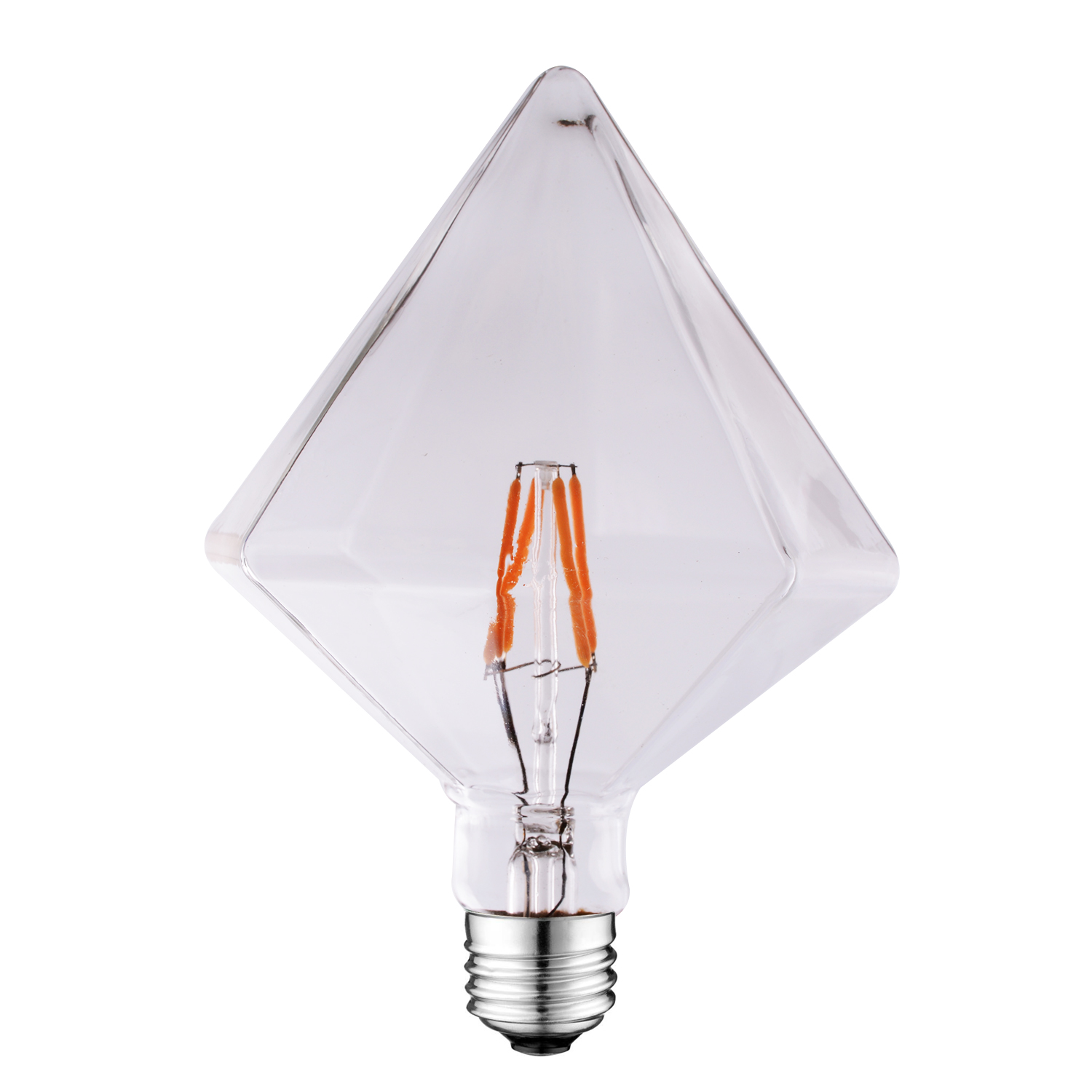 D110 Vintage Amber led diamond light bulb