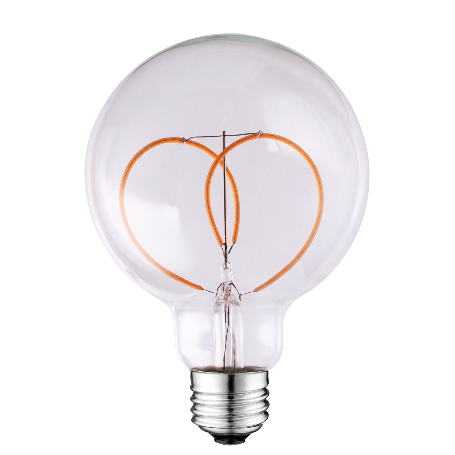 G80 curved filament led bulb Dimmable Amber