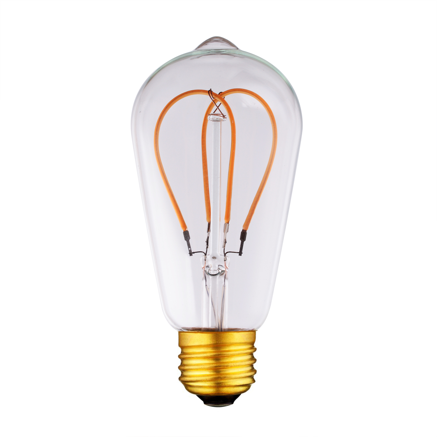 ST64 Heart Bulb Filament led curved bulb