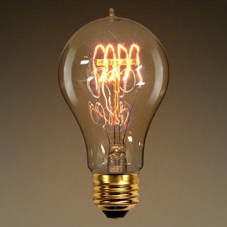 A19 Antique Light Bulbs Quad Loop Filament
