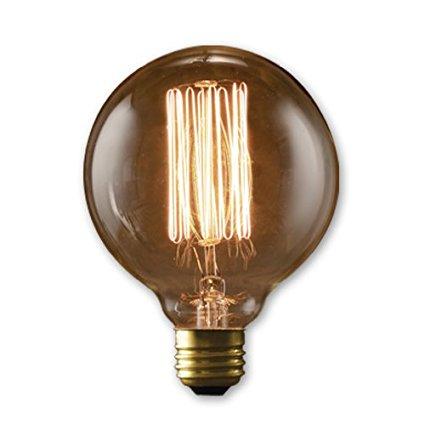 40 watt G95 globe edison bulb