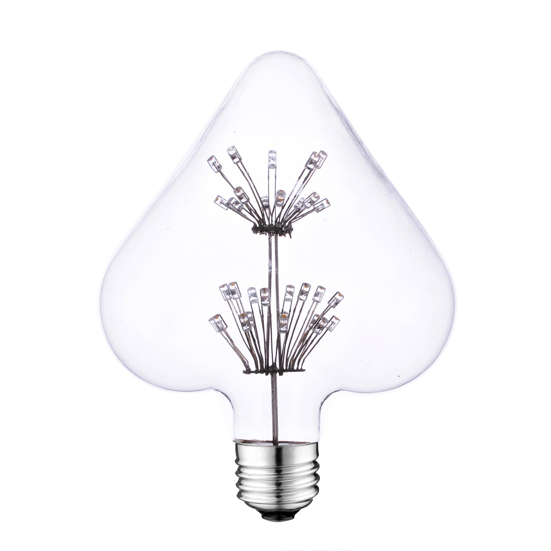 Heart shape Vintage style LED bulb