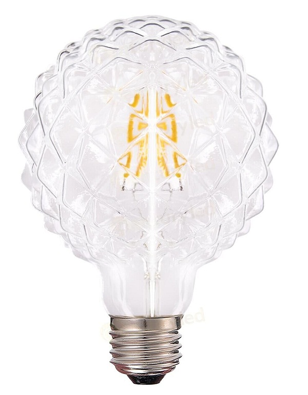 D95 E27 crystal cut light bulbs