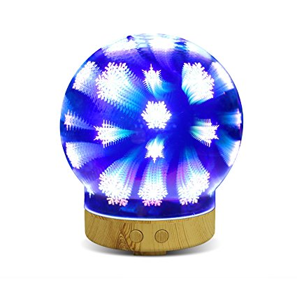 3D Glass Humidifier LED Night Lights