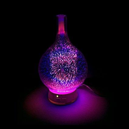3D Firework Glass Humidifier AROMATHERAPY LAMP