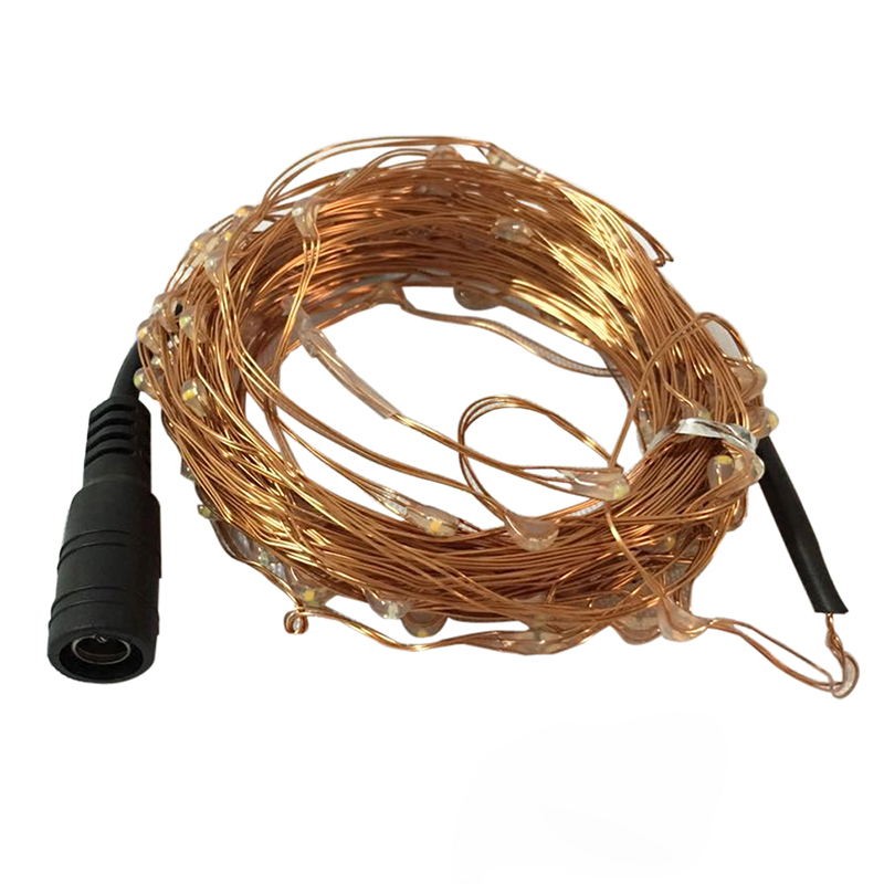 Power Adapter LED Copper Wire String Light