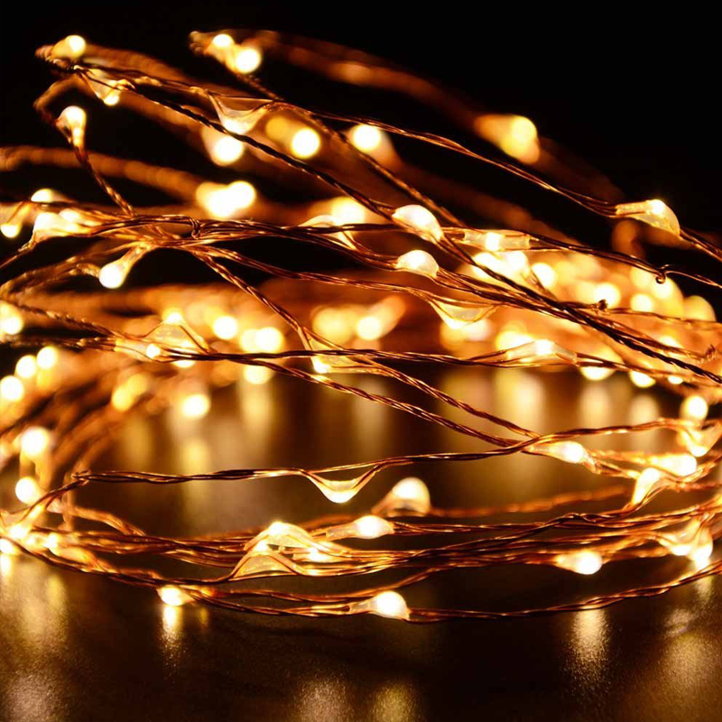 Solar Powered LED copper String Light