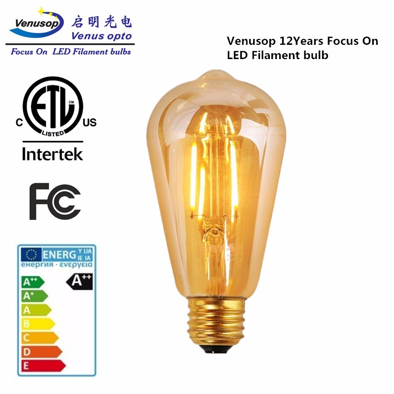 ST58 Dimmable LED Edison Bulb