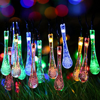 Water Drop Solar Fairy string Light
