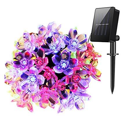 Flower Solar power String Lights