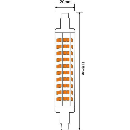 T3 R7S 10w LED Bulb 118mm