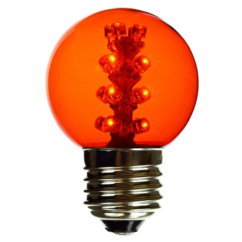 E27 G50 Amber LED globe light bulbs