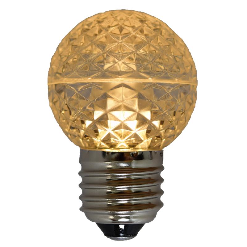G50 Faceted LED Globe Light Bulb
