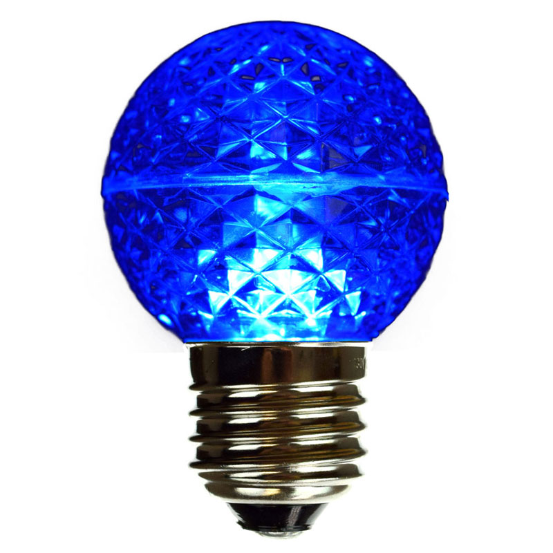 G50 Faceted LED Globe Light Bulb