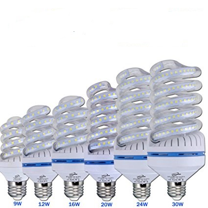 3W Spiral LED Corn Bulbs