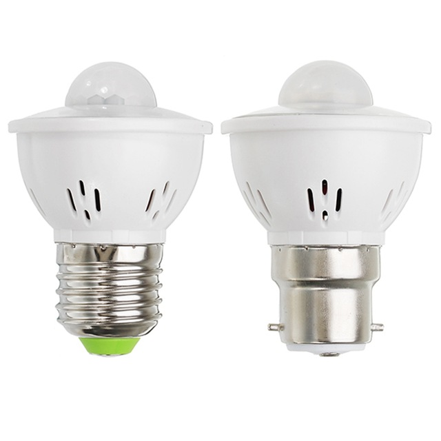 JDRE E27 3W Infrared Motion Sensor LED Bulb