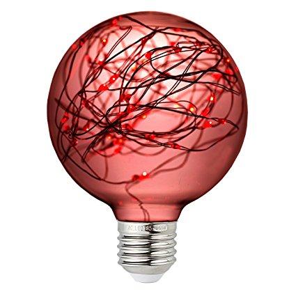 G95 Plastic cover LED copper string light bulbs