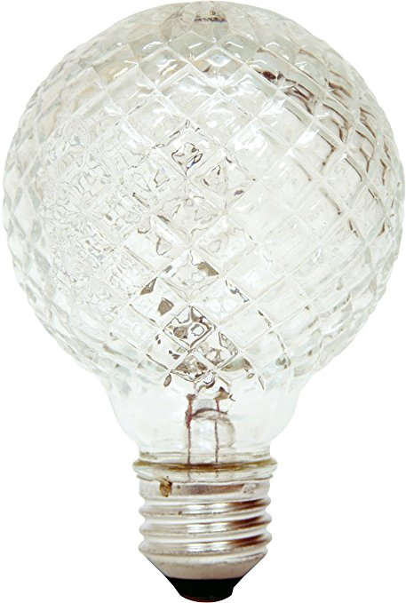 Cut Glass Faceted G30 Vanity Light Bulb
