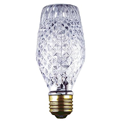 Crystal Cut Glass Light Bulb