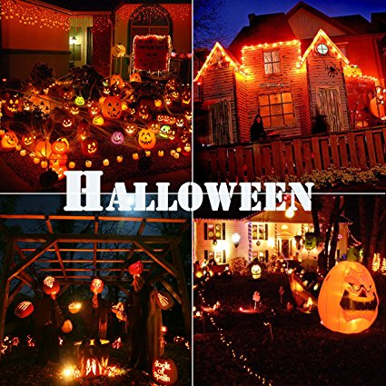 G125 Halloween Decor Christmas Skull Lights