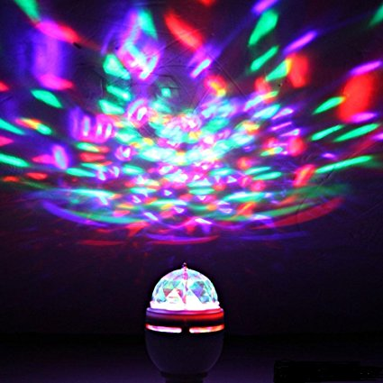 Multi changing Color LED Strobe Bulb Stage Light