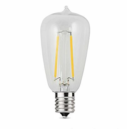 UL Approved ST38 E17 LED Filament bulbs