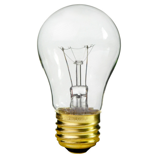 A15 E26 Medium base 25W 40W Appliance Bulb
