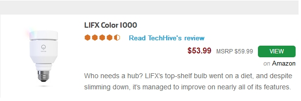 LIFX LED smart bulb