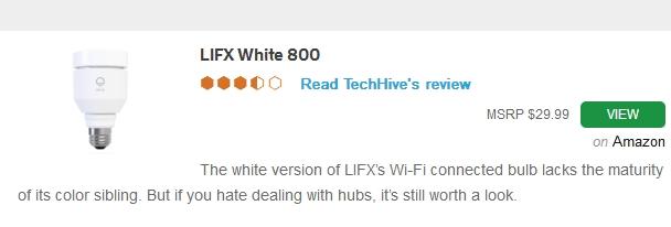 LIFX WHITE LED SMART LIGHT BULB
